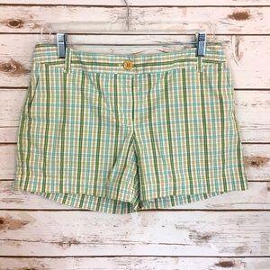Ann Taylor Loft Plaid Cargo Shorts - Size 6